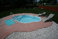 Paradise Fiberglass Pool in Shanks, WV
